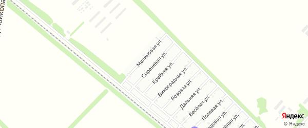 Сиреневая улица на карте Зари с номерами домов