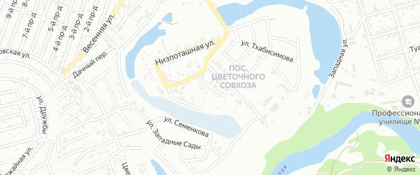 Низпоташная улица на карте Майкопа с номерами домов