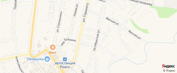 Переулок Мичурина на карте Ряжска с номерами домов