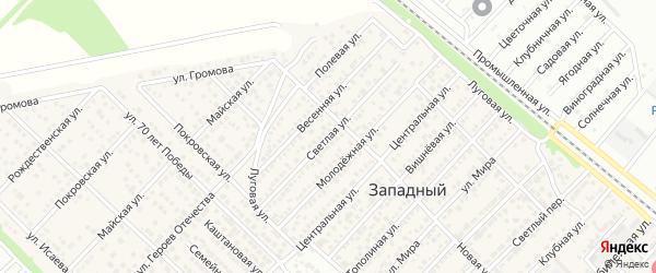 Светлая улица на карте Майкопа с номерами домов