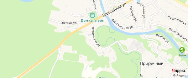 Кирпичная улица на карте Краснооктябрьского поселка Адыгеи с номерами домов