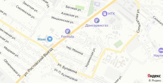 Зеленый переулок в Новочеркасске с номерами домов на карте. Спутник и схема онлайн