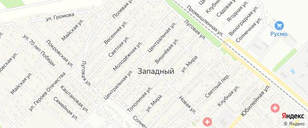 Вишневая улица на карте Западного поселка с номерами домов