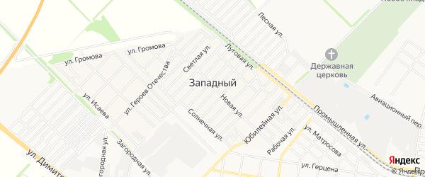 Карта Западного поселка города Майкопа в Адыгее с улицами и номерами домов