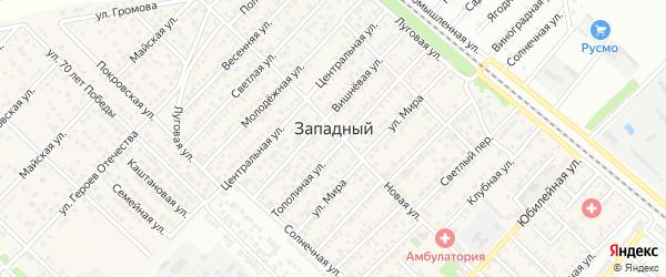 Радужная улица на карте Западного поселка с номерами домов