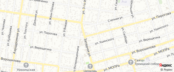 Улица Пирогова на карте Майкопа с номерами домов