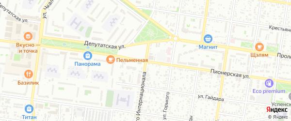Улица 3 Интернационала на карте Майкопа с номерами домов