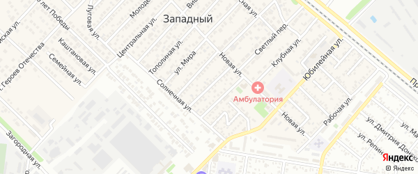 Улица 60 лет Советской Адыгеи на карте Майкопа с номерами домов