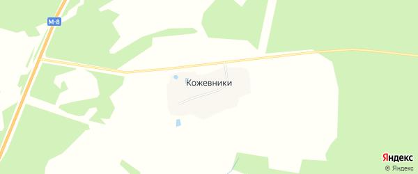 Территория Сельхоз земля Кожевники на карте деревни Кожевники Ярославская области с номерами домов