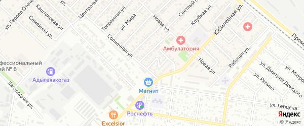 Зеленый переулок на карте Западного поселка с номерами домов