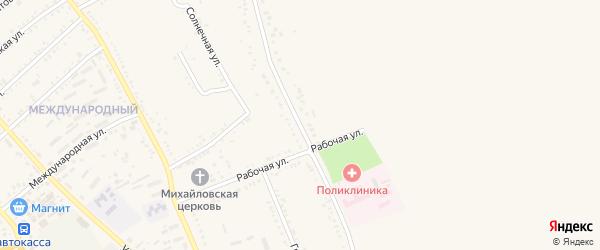 Братская улица на карте Гиагинской станицы Адыгеи с номерами домов