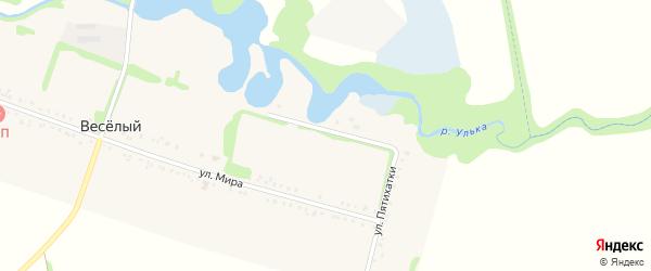 Улица Пятихатки на карте Веселого хутора Адыгеи с номерами домов