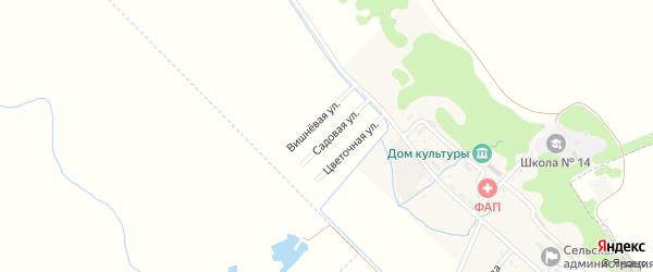 Яблоневая улица на карте садового некоммерческого товарищества Надежды с номерами домов