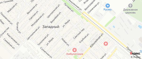 Улица Сельских Строителей на карте Майкопа с номерами домов