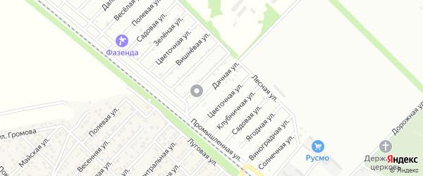 Дачная улица на карте Коммунальника с номерами домов
