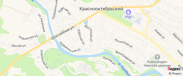 Восточная улица на карте Краснооктябрьского поселка с номерами домов