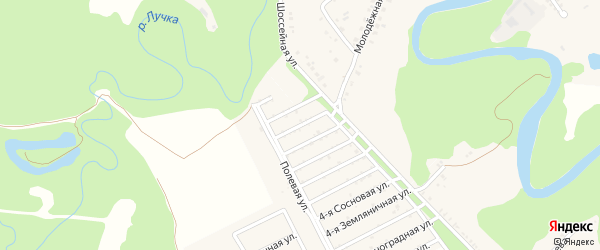 Сиреневая 4-я улица на карте Табачного поселка Адыгеи с номерами домов