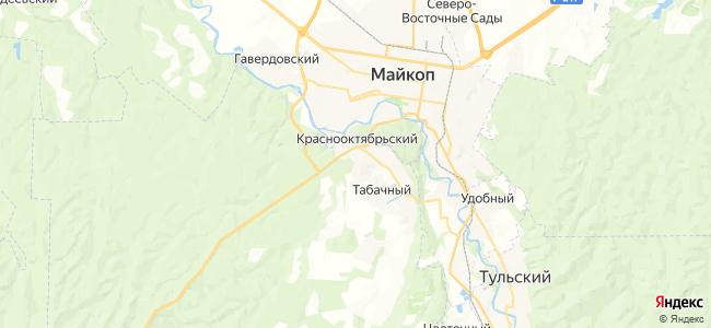 Приречный на карте