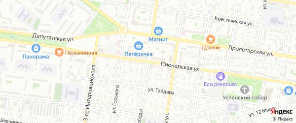 Улица Свободы на карте Майкопа с номерами домов