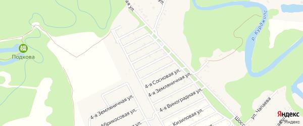 Ореховая 4-я улица на карте Табачного поселка Адыгеи с номерами домов