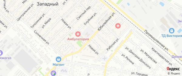 Юбилейная улица на карте Западного поселка с номерами домов
