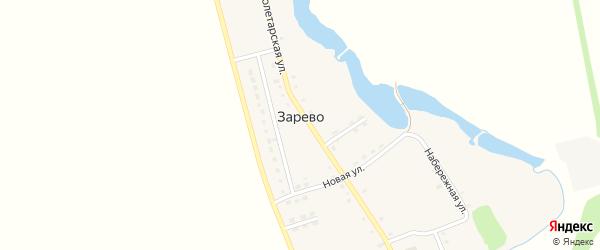 Новый переулок на карте поселка Зарево Адыгеи с номерами домов