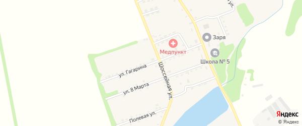 Улица Гагарина на карте поселка Зарево Адыгеи с номерами домов