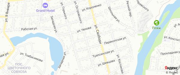 Курджипская улица на карте Майкопа с номерами домов