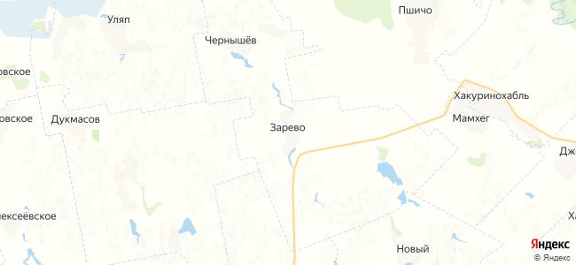 Зарево на карте