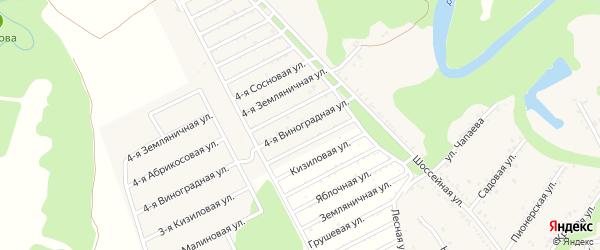 Виноградная 4-я улица на карте Табачного поселка Адыгеи с номерами домов