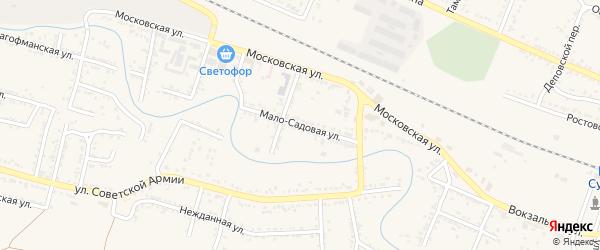 Мало-Садовая улица на карте Красного Сулина с номерами домов