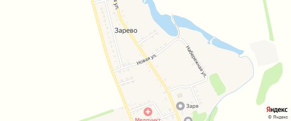 Новая улица на карте поселка Зарево Адыгеи с номерами домов