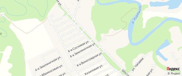 Шоссейная улица на карте Краснооктябрьского поселка Адыгеи с номерами домов