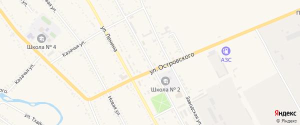 Центральная улица на карте Гиагинской станицы Адыгеи с номерами домов