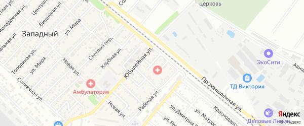 Северный переулок на карте Западного поселка с номерами домов