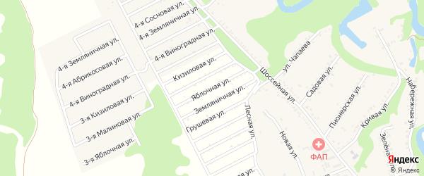 Яблочная улица на карте садового некоммерческого товарищества Ягодки с номерами домов