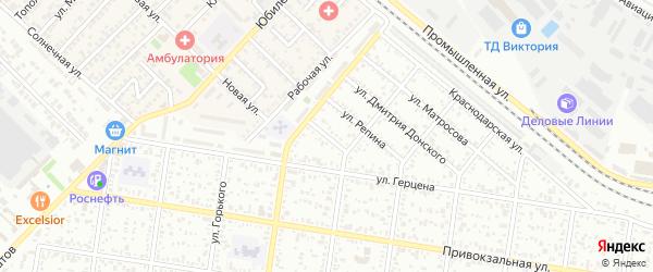 Совхозный переулок на карте Майкопа с номерами домов