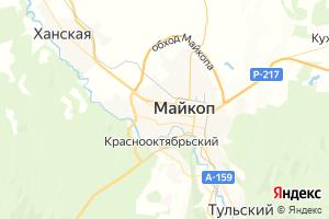 Карта г. Майкоп Республика Адыгея
