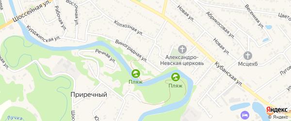 Молодежная улица на карте Краснооктябрьского поселка Адыгеи с номерами домов