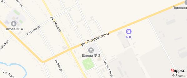 Улица Островского на карте Гиагинской станицы с номерами домов