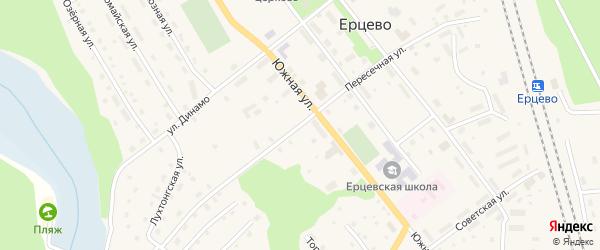 Пересечная улица на карте поселка Ерцево с номерами домов