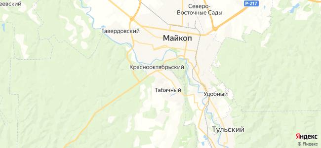 Краснооктябрьский на карте