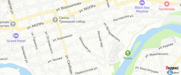 Нижний переулок на карте Майкопа с номерами домов