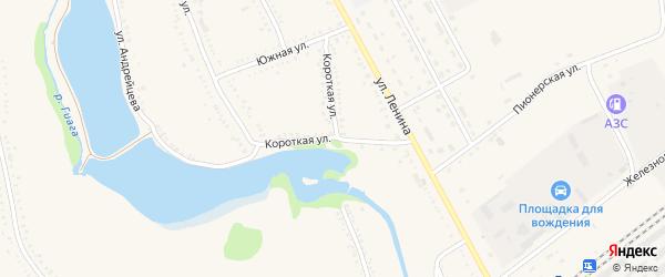 Короткая улица на карте Гиагинской станицы Адыгеи с номерами домов