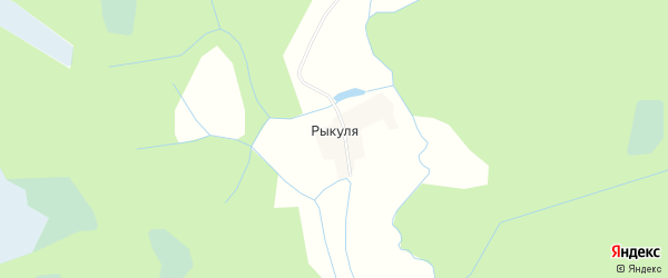 Карта деревни Рыкули в Вологодской области с улицами и номерами домов