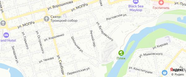 Речной переулок на карте Майкопа с номерами домов