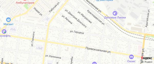 Улица Герцена на карте Майкопа с номерами домов