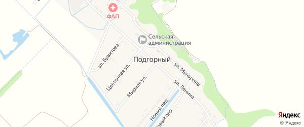 Цветочная улица на карте Подгорного поселка с номерами домов