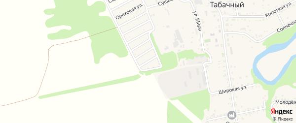 Садовая 2-я улица на карте Табачного поселка Адыгеи с номерами домов