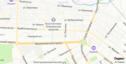 Карта поселка Юбилейное-2 в Новочеркасске с улицами, домами и почтовыми отделениями со спутника онлайн